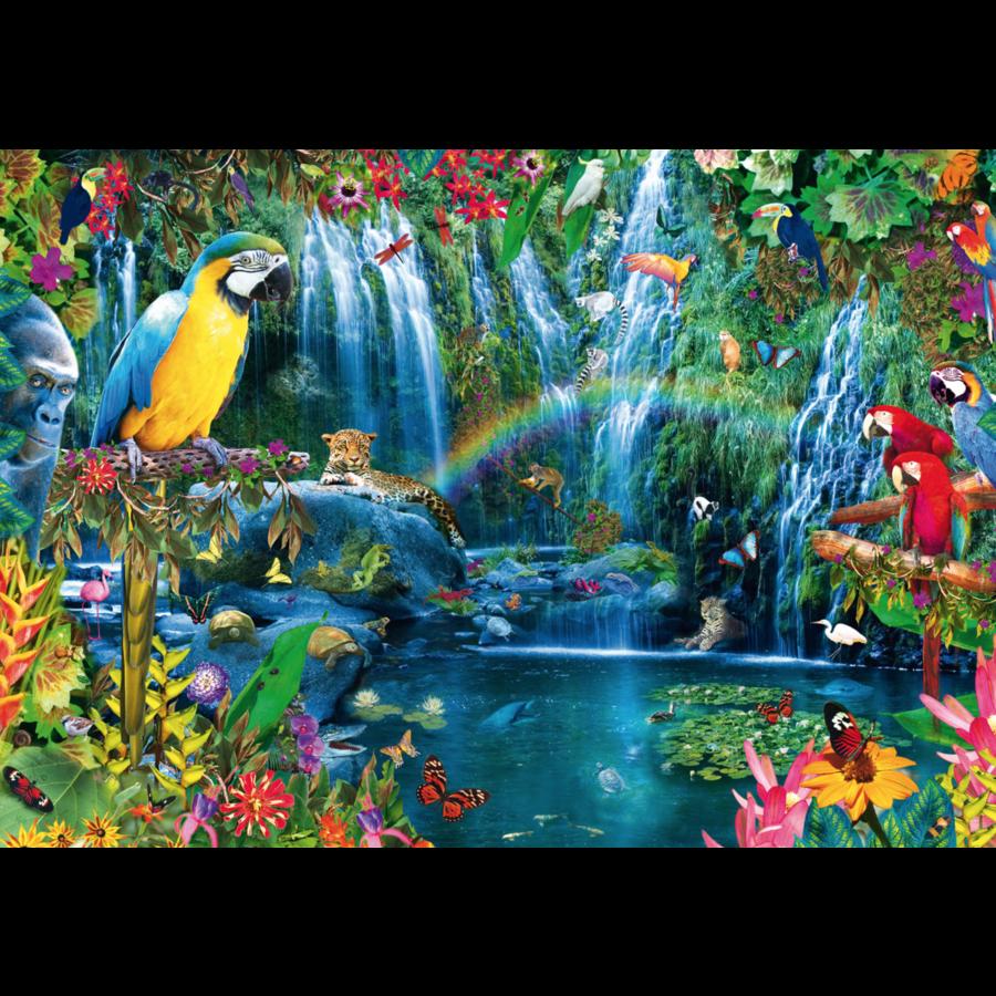Papegaaien in de tropen - puzzel van 1000 stukjes-1