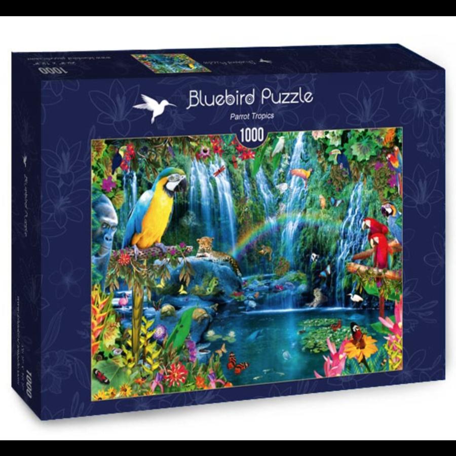 Papegaaien in de tropen - puzzel van 1000 stukjes-2