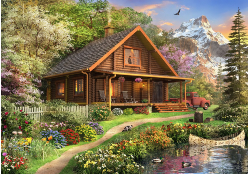 Bluebird Puzzle The Log Cabin - 500 pieces