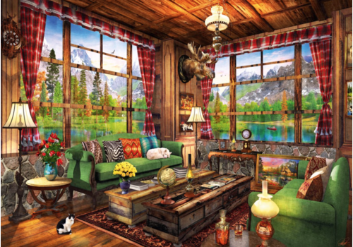 Bluebird Puzzle Mount Cabin View - 1000 piece
