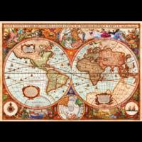 thumb-Ancienne carte du monde - puzzle de 1000 pièces-1