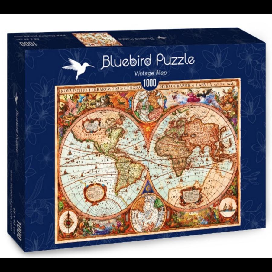 Ancienne carte du monde - puzzle de 1000 pièces-2