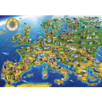 thumb-Europese landkaart - puzzel van 1000 stukjes-1