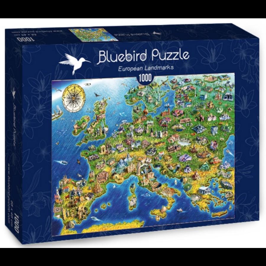 Europese landkaart - puzzel van 1000 stukjes-2