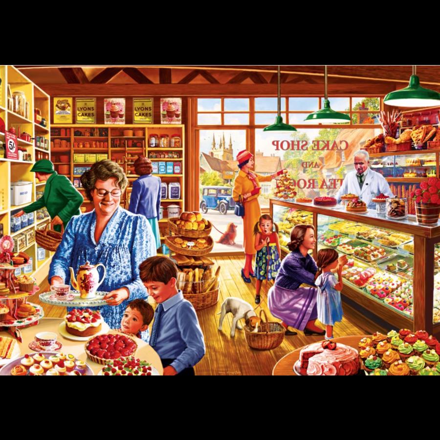Nostalgische Taartenwinkel - puzzel van 1000 stukjes-1