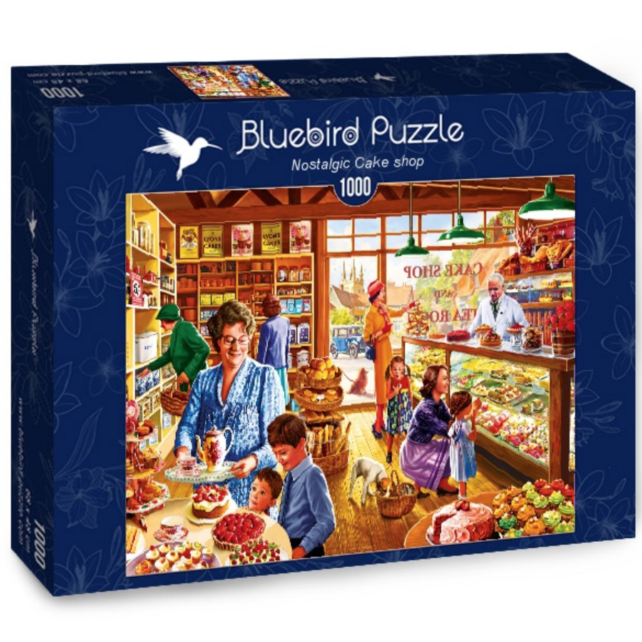Nostalgische Taartenwinkel - puzzel van 1000 stukjes-2