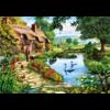 Bluebird Puzzle Cottage bij het meer - puzzel van 1000 stukjes