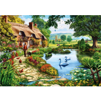 thumb-Cottage by the lake - puzzle of 1000 pieces-1