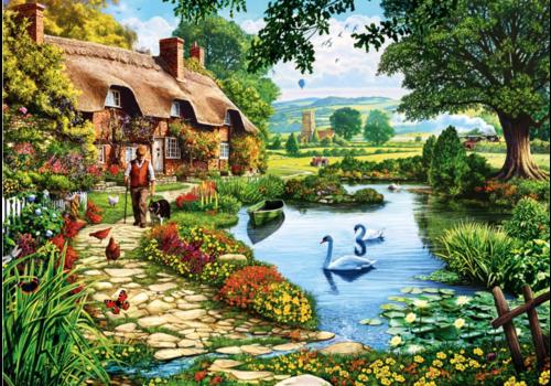 Bluebird Puzzle Cottage au bord du lac - 1000 pièces