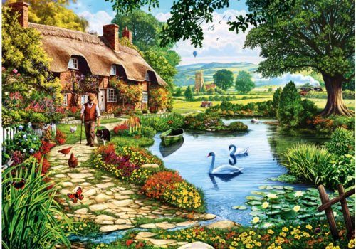 Bluebird Puzzle Cottage by the lake - 1000 pieces