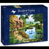 thumb-Cottage au bord du lac - puzzle de 1000 pièces-2
