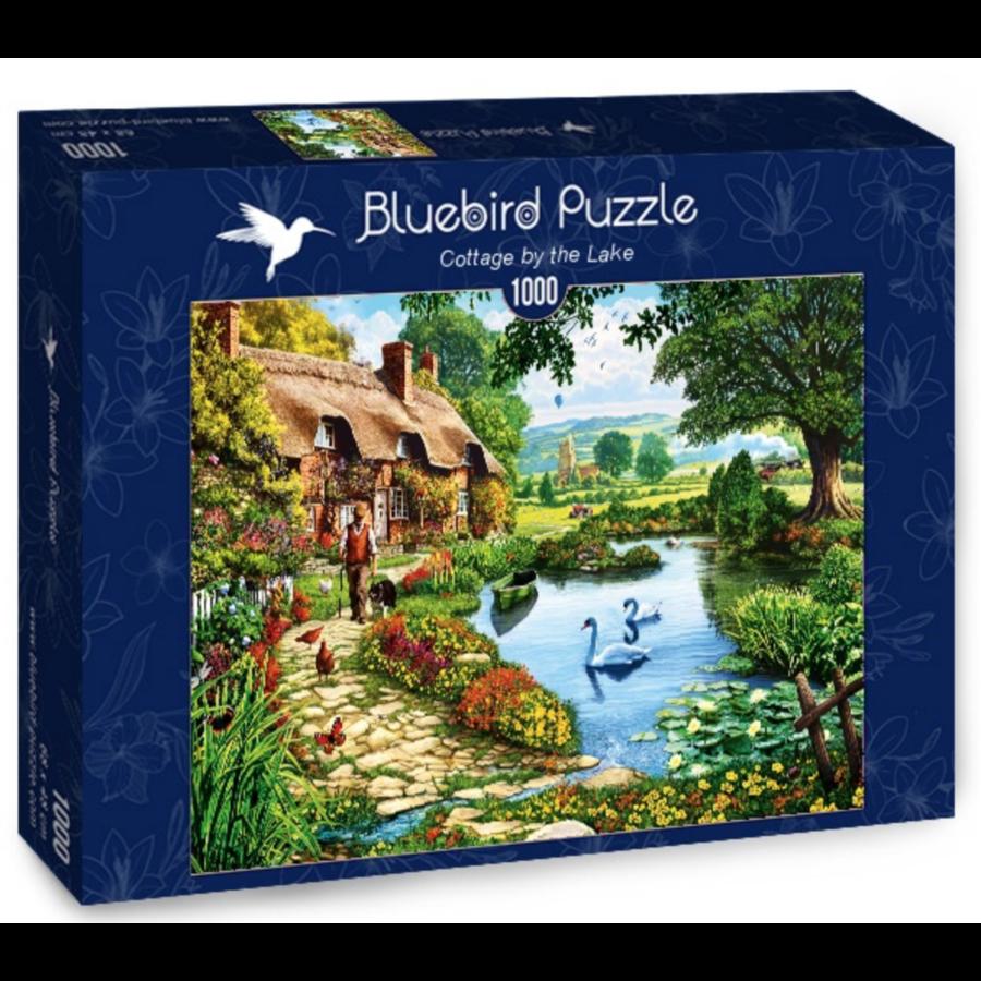 Cottage bij het meer - puzzel van 1000 stukjes-2