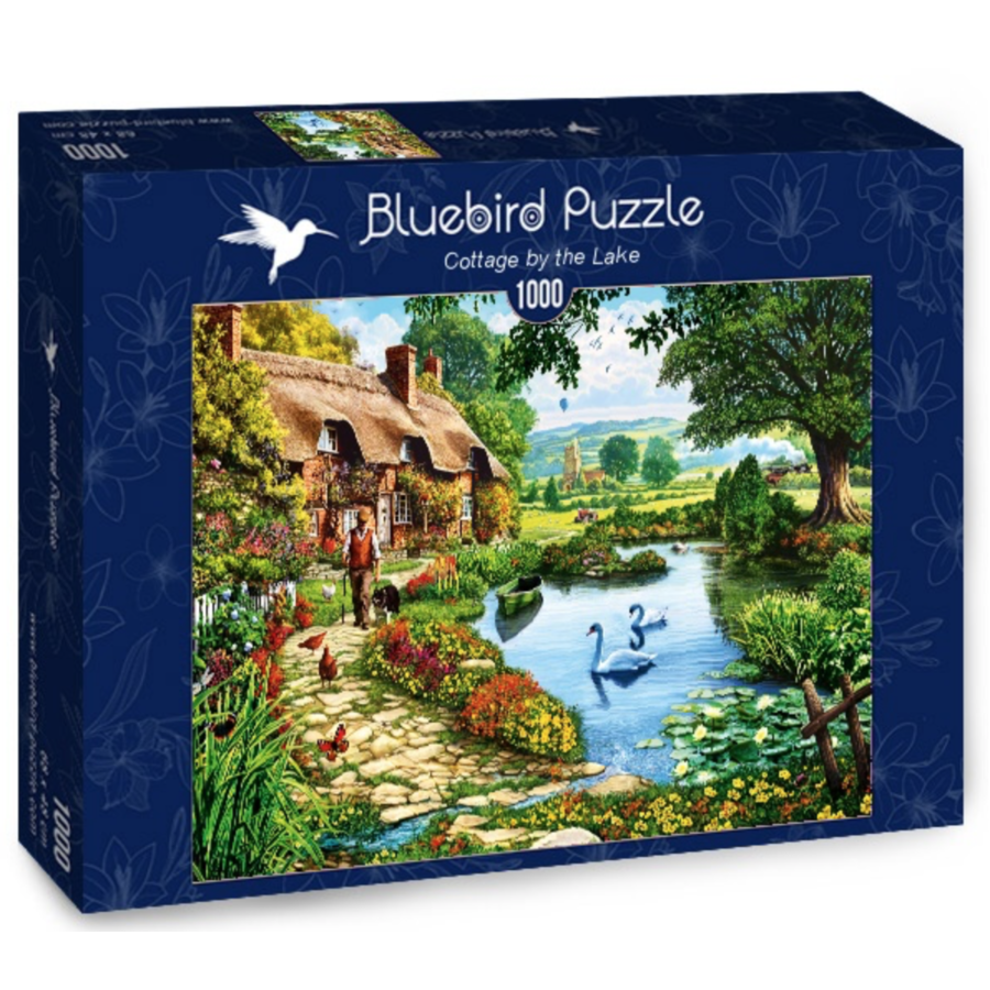 Cottage by the lake - puzzle of 1000 pieces-2