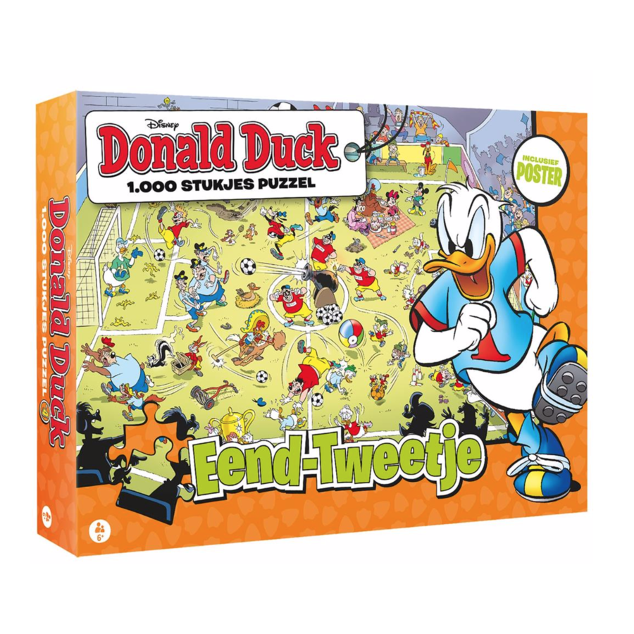 Donald Duck 4 - Football - jigsaw puzzle of 1000 pieces-1