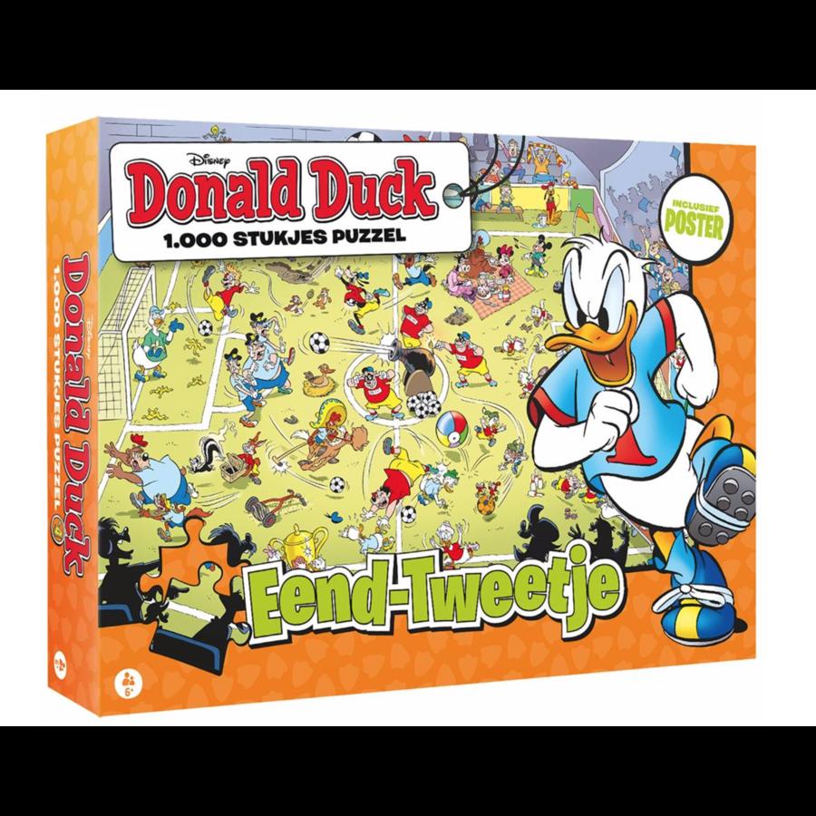 Donald Duck 4 - Jouer au Foot - puzzle de 1000 pièces-1