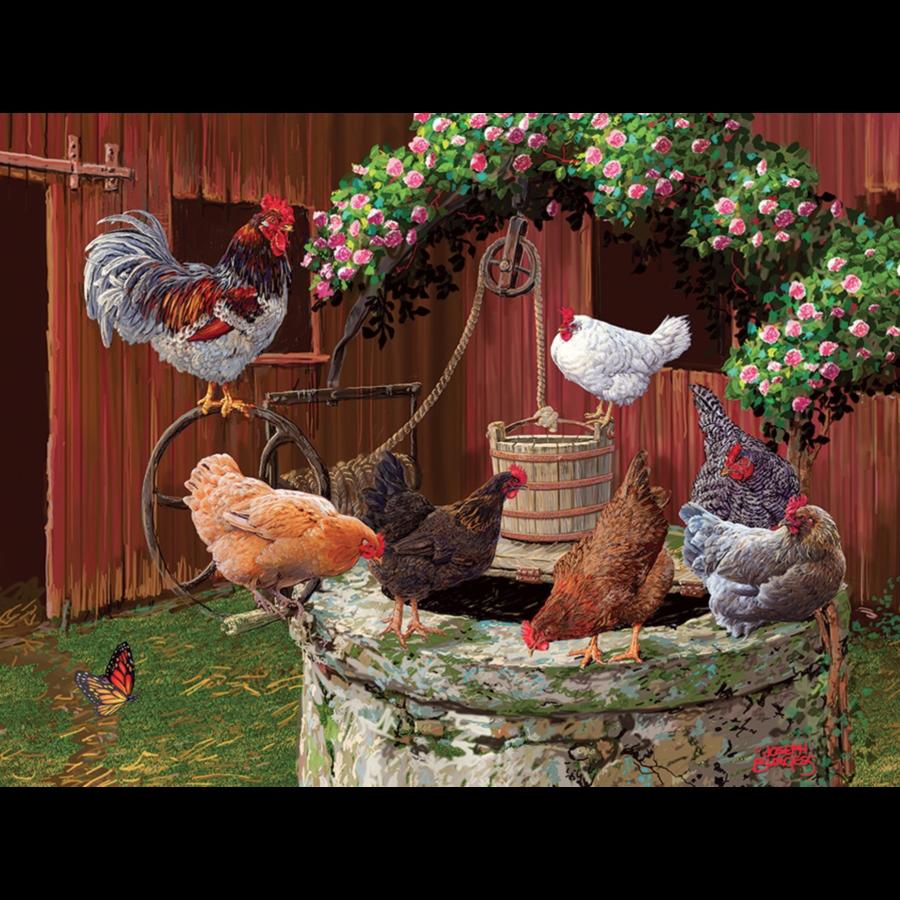 De kippen doen het goed - puzzel van 275 XXL stukjes-1