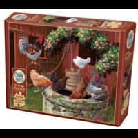 thumb-De kippen doen het goed - puzzel van 275 XXL stukjes-2