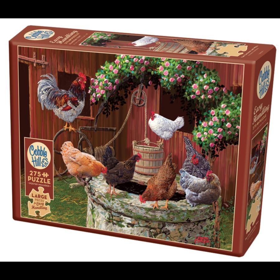 Les poulets vont bien - puzzle de 275 pièces XXL-2