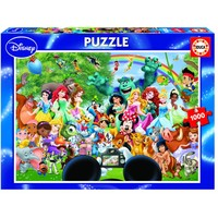 thumb-The magical world of Disney - 1000 pieces-1
