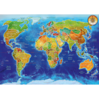 thumb-World map - puzzle of 1000 pieces-1