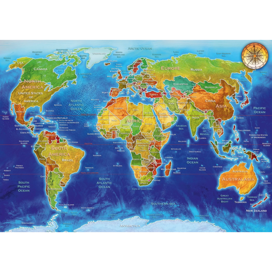 World map - puzzle of 1000 pieces-1