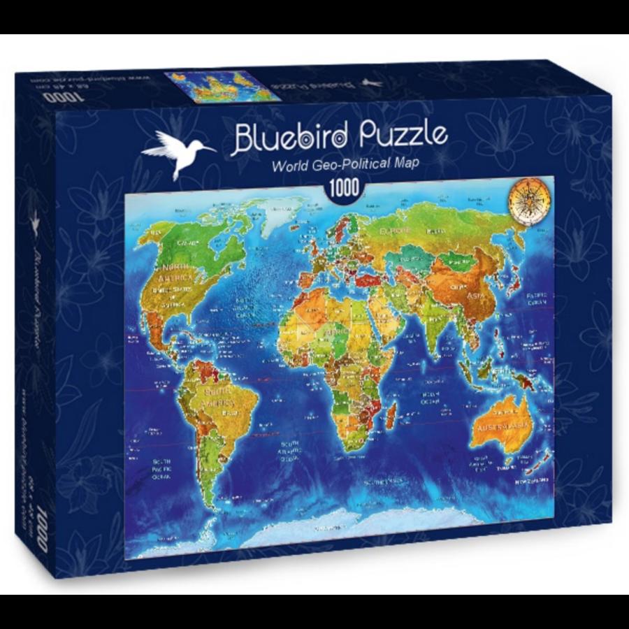 Wereldkaart - puzzel van 1000 stukjes-2