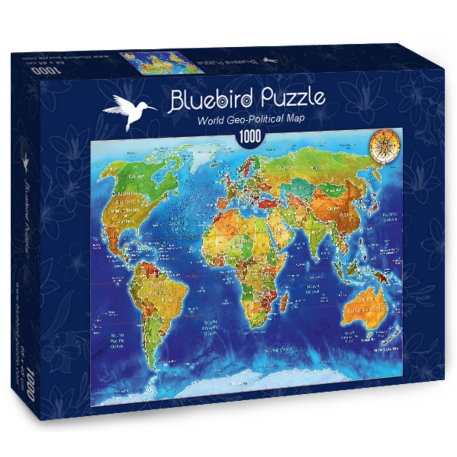 World map - puzzle of 1000 pieces-2