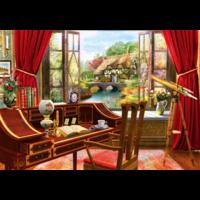 thumb-Vue de l'étude - puzzle de 1000 pièces-1
