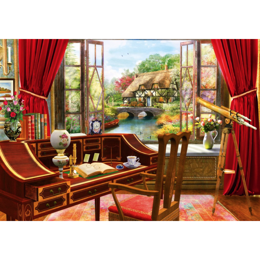 Vue de l'étude - puzzle de 1000 pièces-1