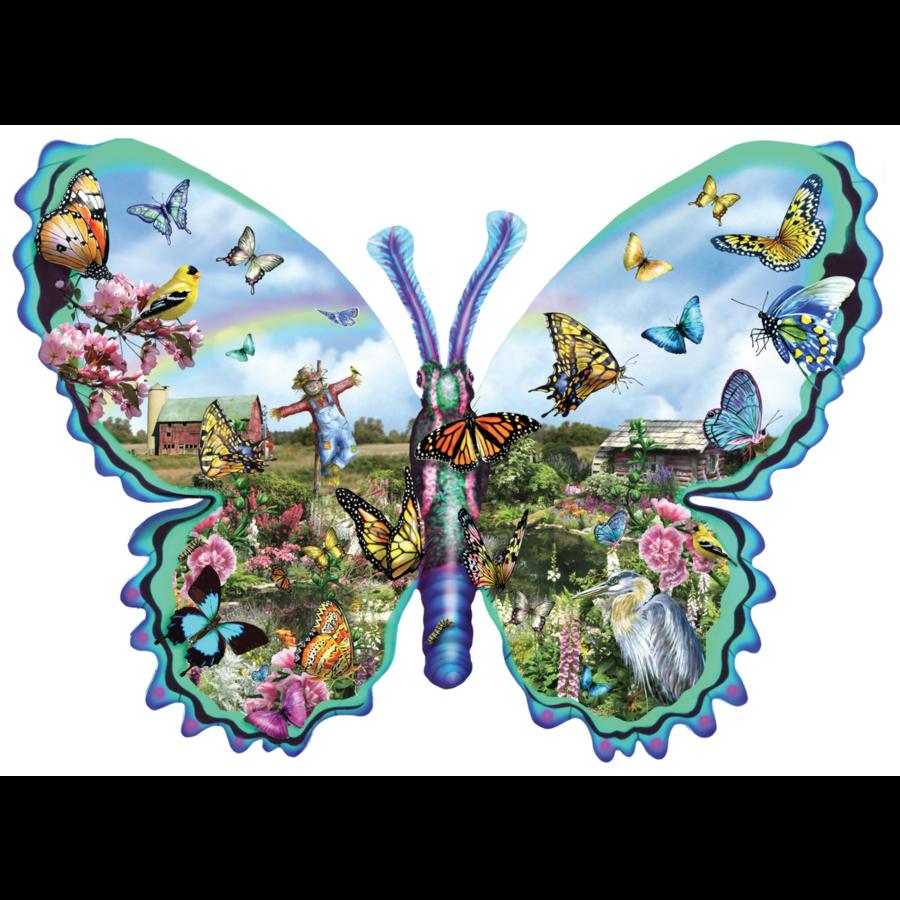 Papillons Ferme - puzzle de 1000 pièces-1