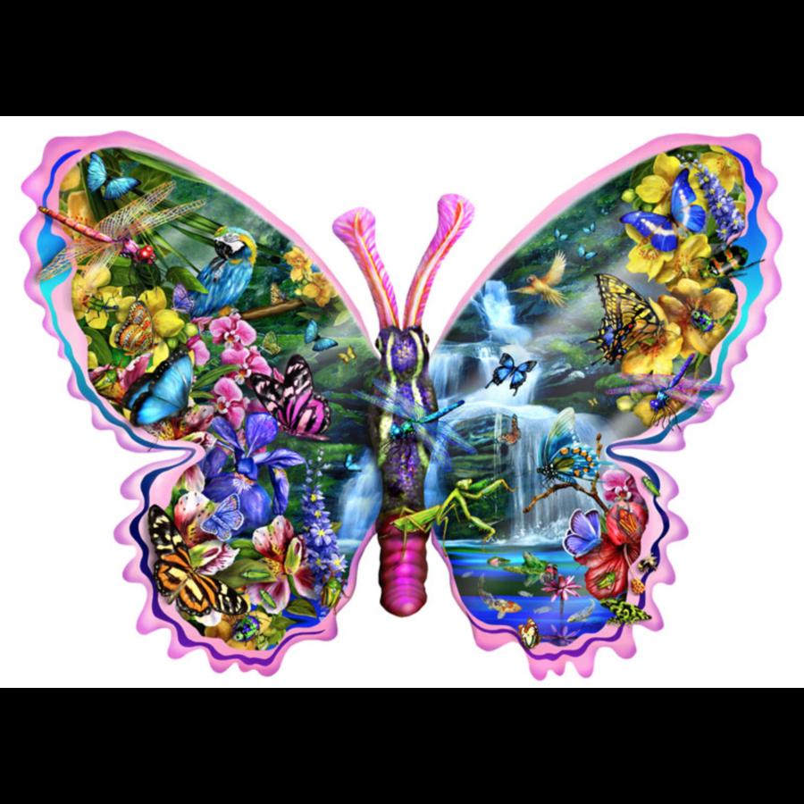 Papillons Chute d'eau - puzzle de 1000 pièces-1