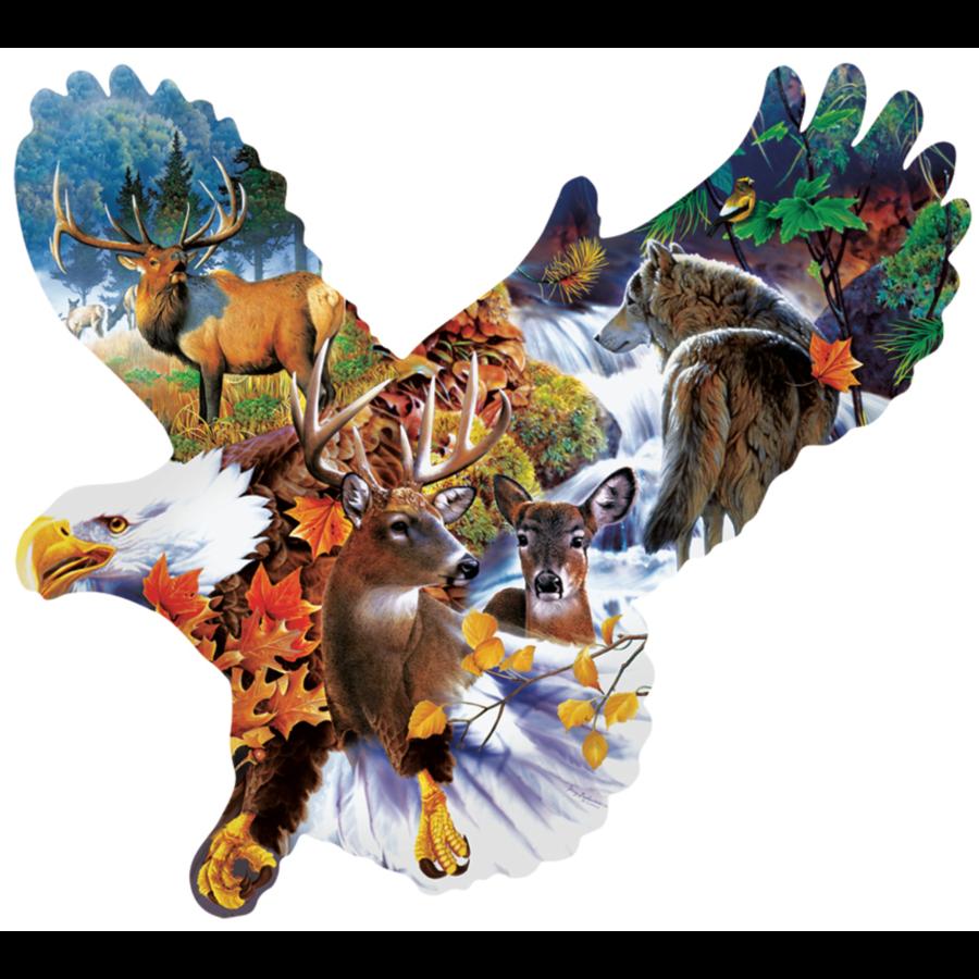 Aigle de forêt - puzzle de 1000 pièces-1