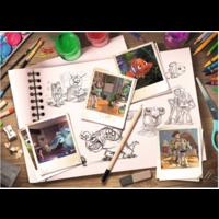 thumb-D-Pixar: Sketches - puzzel van  1000 stukjes-2