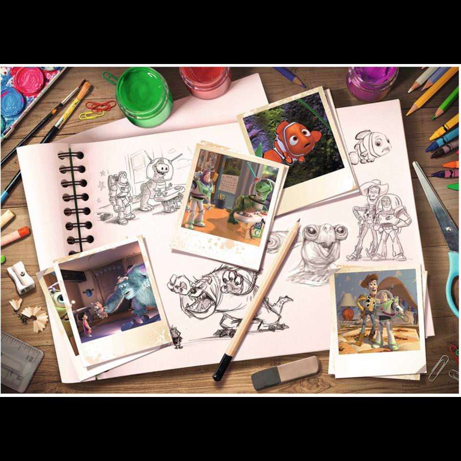 D-Pixar: Sketches - puzzel van  1000 stukjes-2