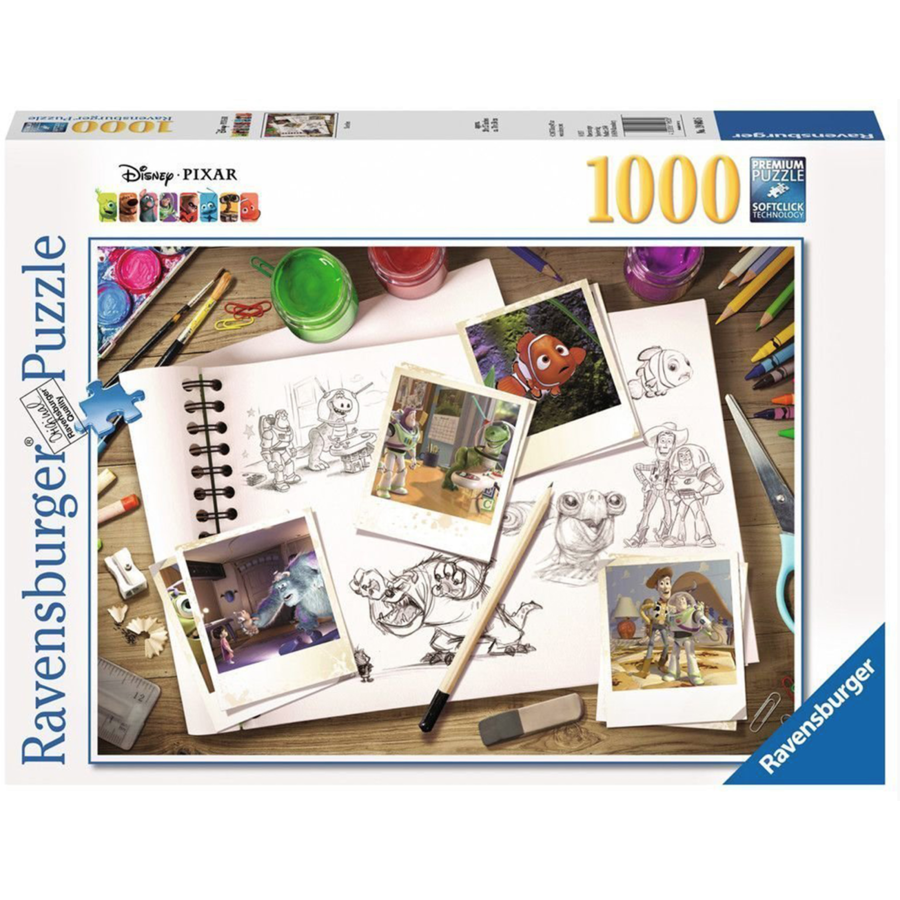 D-Pixar: Sketches - puzzel van  1000 stukjes-1