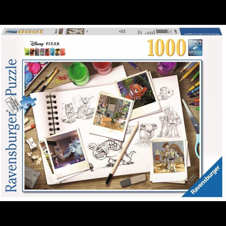 D-Pixar: Sketches - puzzle de 1000 pièces-1