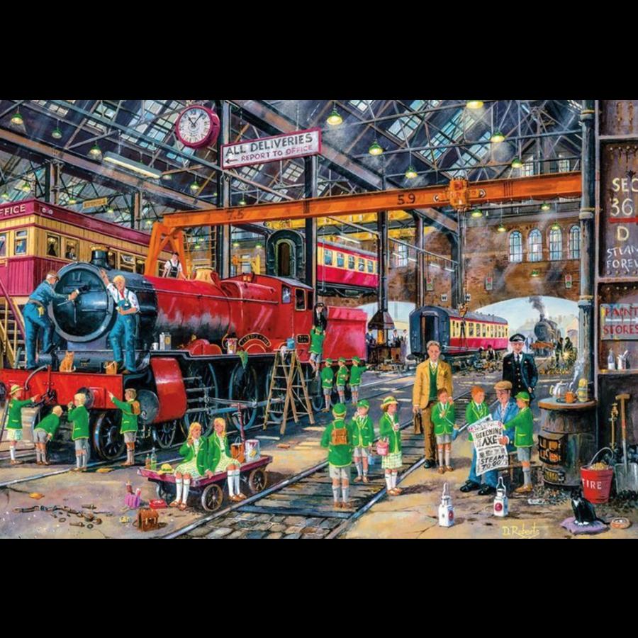 The school outing - puzzel van 500  stukjes-1
