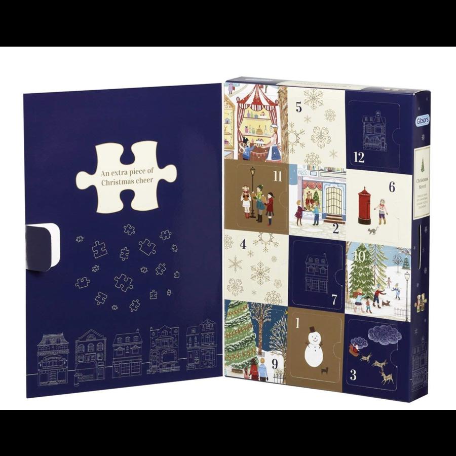 Rue de Noël - Calendrier de l'Avent - 12 x 80 pièces-1