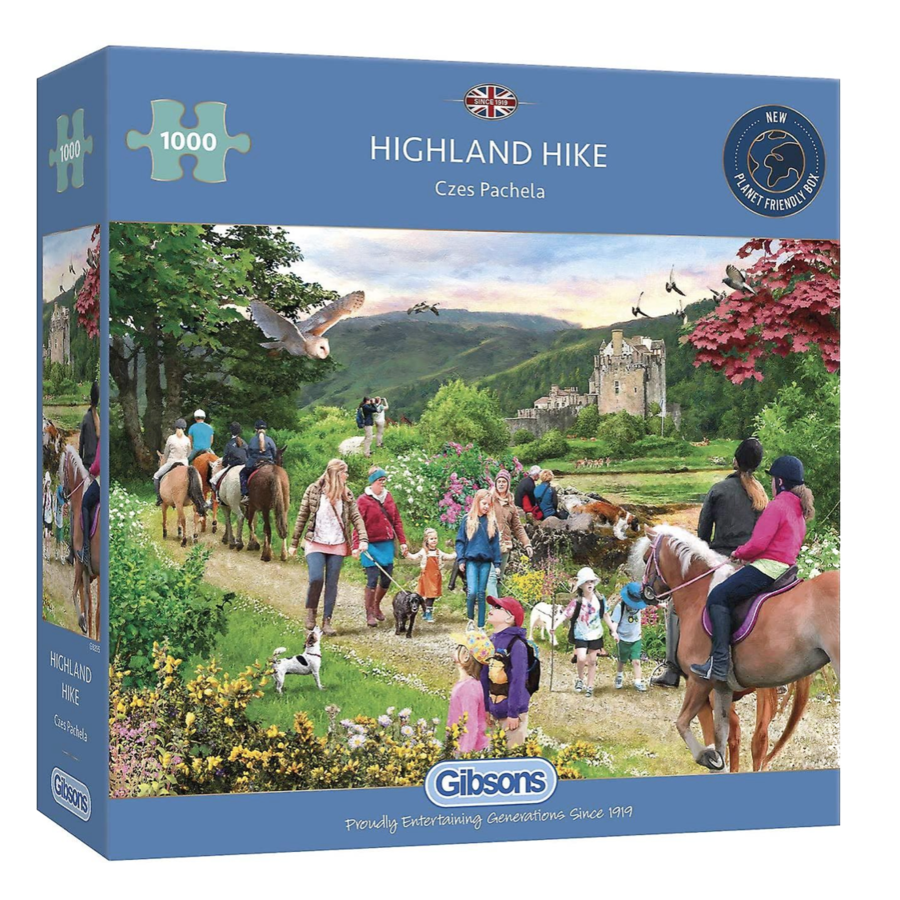 Wandeling in de Schotse hoogland - puzzel van 1000 stukjes-1