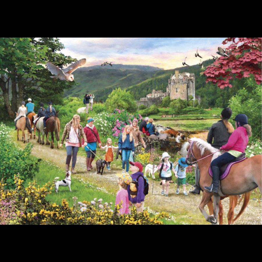 Wandeling in de Schotse hoogland - puzzel van 1000 stukjes-2