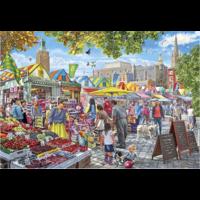 thumb-Jour de marché à Norwich - puzzle de 1000 pièces-1