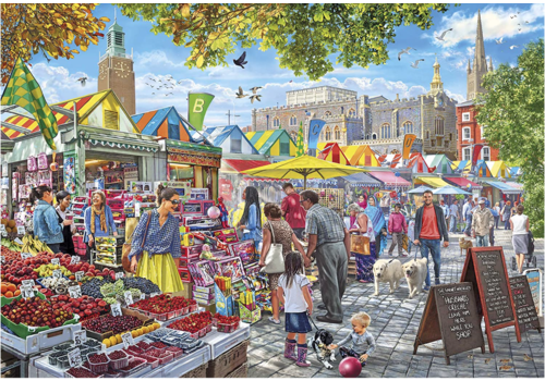 Market Day in Norwich - 1000 pieces