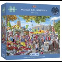 thumb-Jour de marché à Norwich - puzzle de 1000 pièces-2