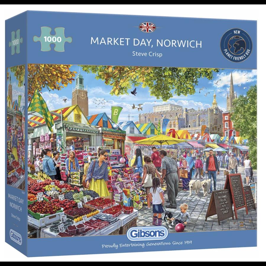 Jour de marché à Norwich - puzzle de 1000 pièces-2