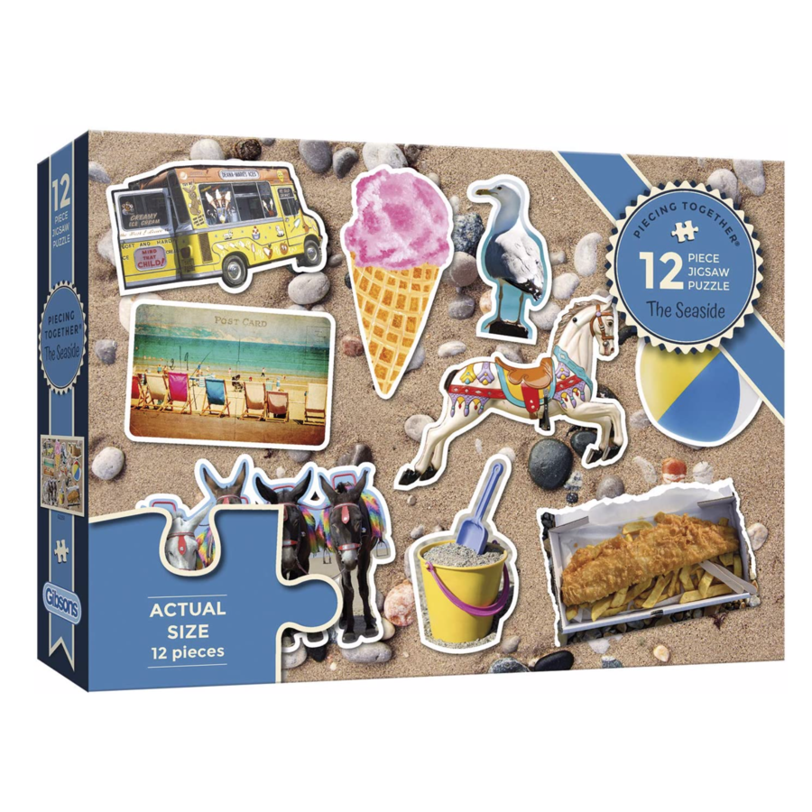 The Seaside - jigsaw puzzle of 12 XXL pieces-1