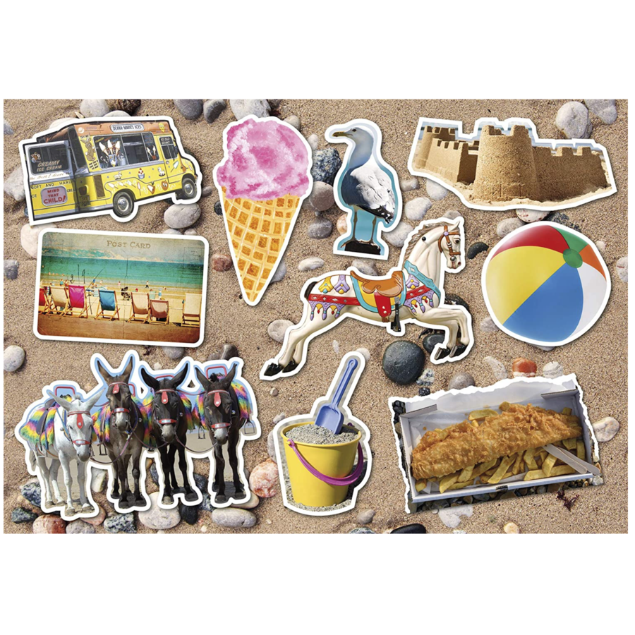 The Seaside - jigsaw puzzle of 12 XXL pieces-2