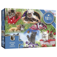 thumb-Katten  - puzzel van 12 XXL stukjes-1