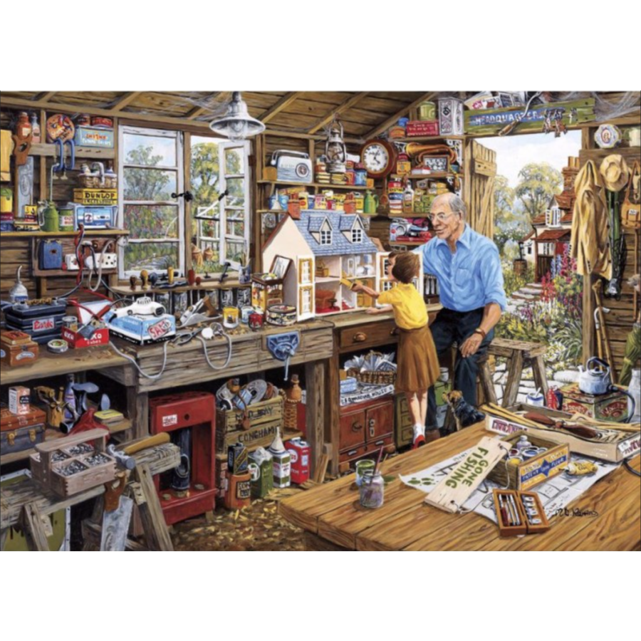 Opa's werkplaats - puzzel van 40 XXL stukjes-2