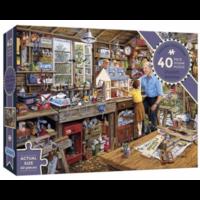 thumb-Opa's werkplaats - puzzel van 40 XXL stukjes-1