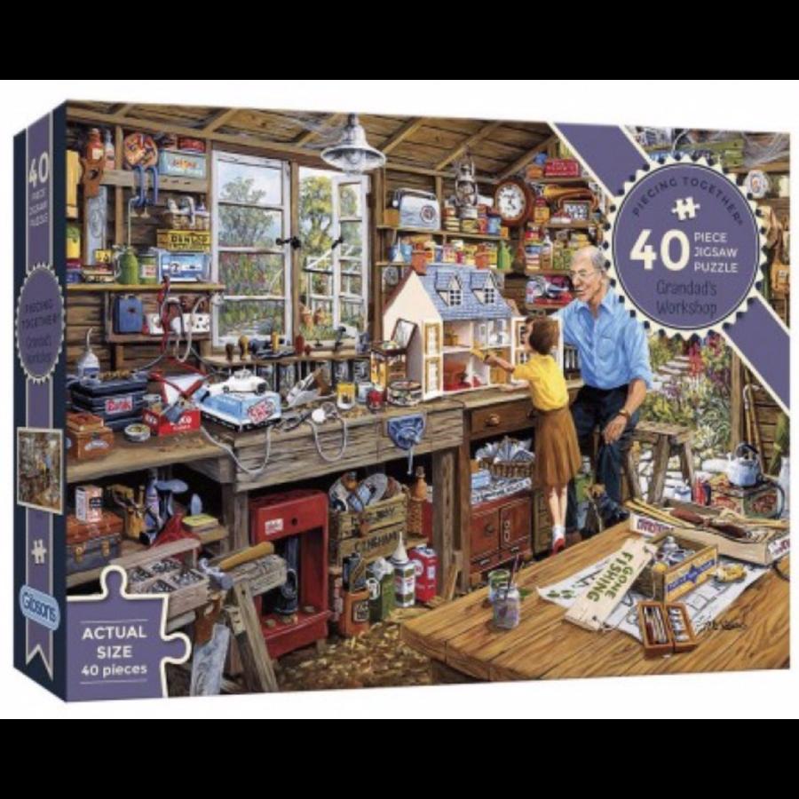 Opa's werkplaats - puzzel van 40 XXL stukjes-1